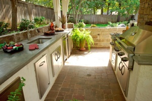 outdoor kitchen fancy